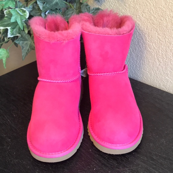 2a56f02fab7 UGG Mini Cerise Pink Bailey Bow Boots